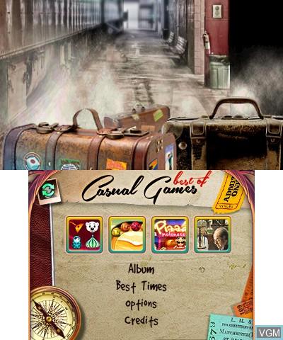 Image du menu du jeu Best of Casual Games sur Nintendo 3DS