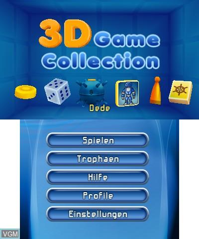 Image du menu du jeu 3D Game Collection sur Nintendo 3DS