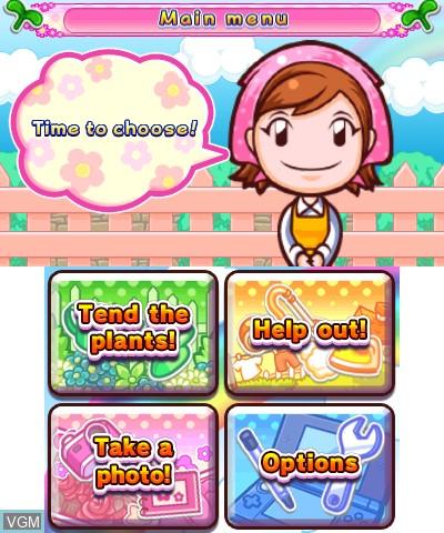 Image du menu du jeu Gardening Mama - Forest Friends sur Nintendo 3DS