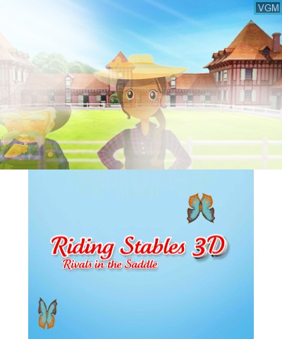 Image du menu du jeu 2 in 1 - Horses 3D Vol.2 - Rivals in the Saddle and Jumping for the Team 3D sur Nintendo 3DS