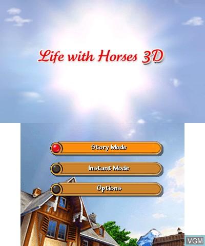 Image du menu du jeu 2 in 1 - Life with Horses 3D + My Baby Pet Hotel 3D sur Nintendo 3DS