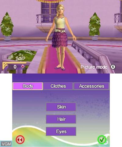 Image du menu du jeu Bella Sara 2 sur Nintendo 3DS
