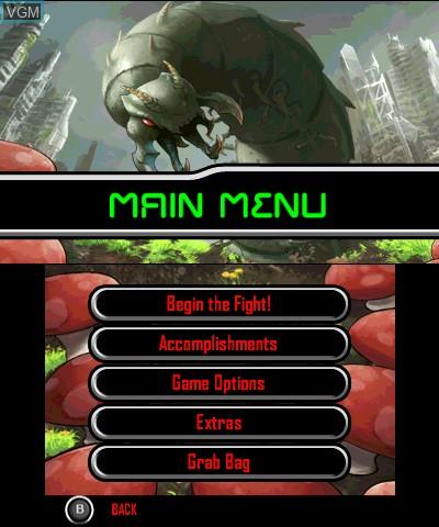 Image du menu du jeu Centipede - Infestation sur Nintendo 3DS