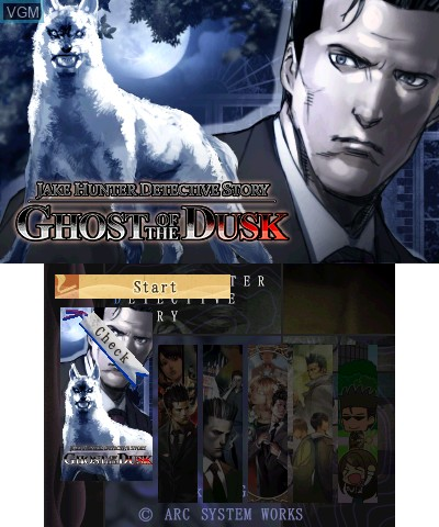 Image du menu du jeu Jake Hunter Detective Story - Ghost of The Dusk sur Nintendo 3DS