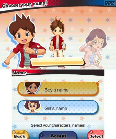 Image du menu du jeu Yo-kai Watch 3 sur Nintendo 3DS