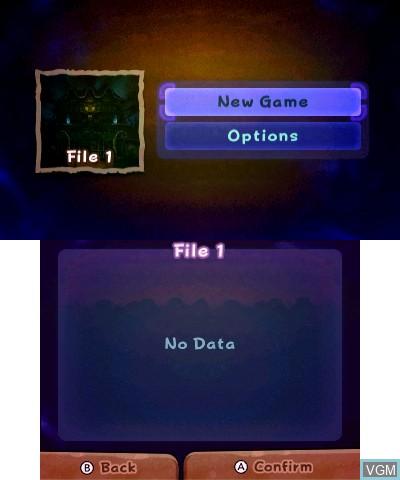 Image du menu du jeu Luigi's Mansion sur Nintendo 3DS