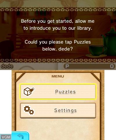 Image du menu du jeu Picross 3D - Round 2 sur Nintendo 3DS