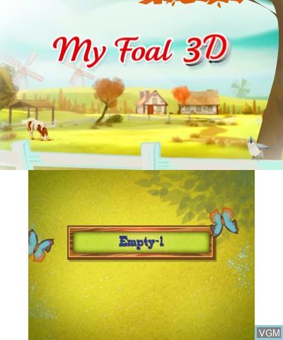 Image du menu du jeu 2in1 Horses 3D - My Foal 3D + My Riding Stables 3D - Rivals in the Saddle sur Nintendo 3DS