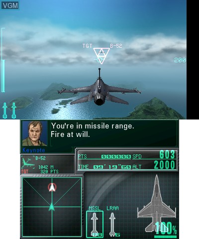 Image in-game du jeu Ace Combat - Assault Horizon Legacy+ sur Nintendo 3DS