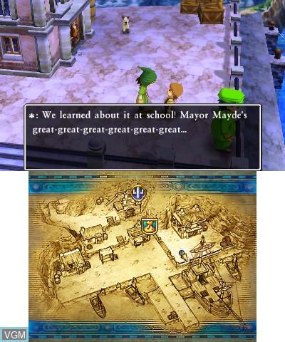 Image in-game du jeu Dragon Quest VII - Fragments of the Forgotten Past sur Nintendo 3DS