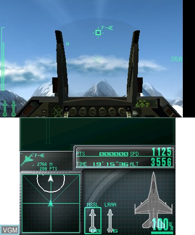 Image in-game du jeu Ace Combat - Assault Horizon Legacy sur Nintendo 3DS