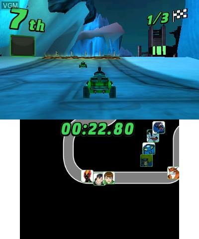 Image in-game du jeu Ben 10 - Galactic Racing sur Nintendo 3DS