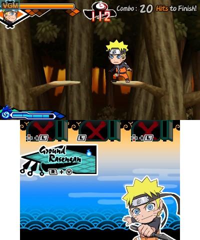 Image in-game du jeu Naruto Powerful Shippuden sur Nintendo 3DS