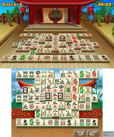 Image in-game du jeu 3D MahJongg sur Nintendo 3DS