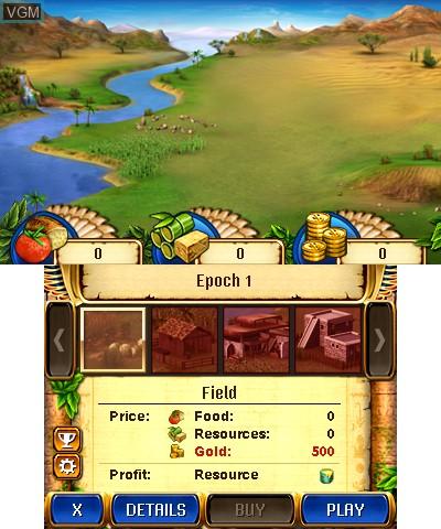 Image in-game du jeu Jewel Master - Cradle of Egypt 2 3D sur Nintendo 3DS