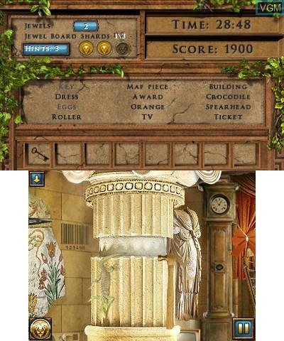 Image in-game du jeu Jewel Quest Mysteries -  The Seventh Gate sur Nintendo 3DS
