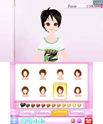 Image in-game du jeu Girls' Fashion Shoot sur Nintendo 3DS