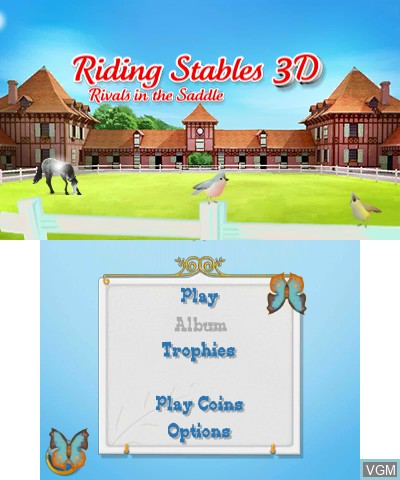 Image in-game du jeu 2 in 1 - Horses 3D Vol.2 - Rivals in the Saddle and Jumping for the Team 3D sur Nintendo 3DS