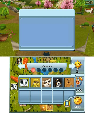 Image in-game du jeu 2 in 1 - Life with Horses 3D + My Baby Pet Hotel 3D sur Nintendo 3DS