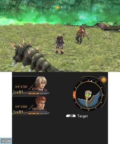 Image in-game du jeu Xenoblade Chronicles 3D sur Nintendo 3DS