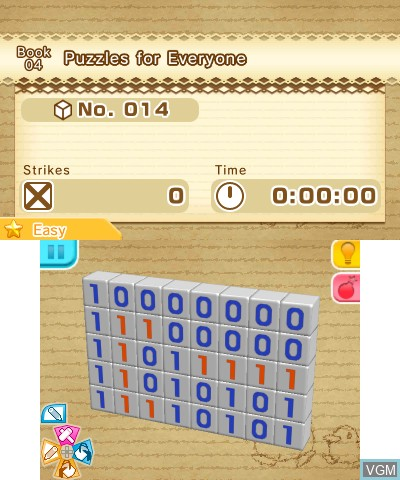 Image in-game du jeu Picross 3D - Round 2 sur Nintendo 3DS
