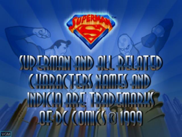 Image de l'ecran titre du jeu Superman sur Nintendo 64