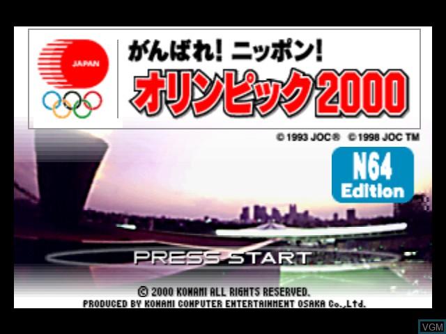 Image de l'ecran titre du jeu Ganbare Nippon! Olympics 2000 sur Nintendo 64