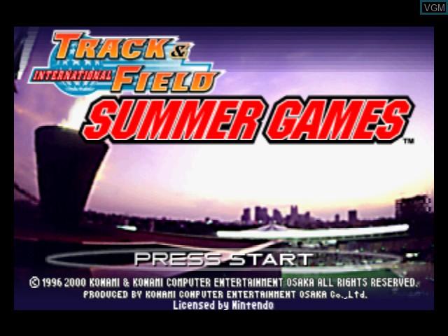Image de l'ecran titre du jeu International Track & Field Summer Games sur Nintendo 64
