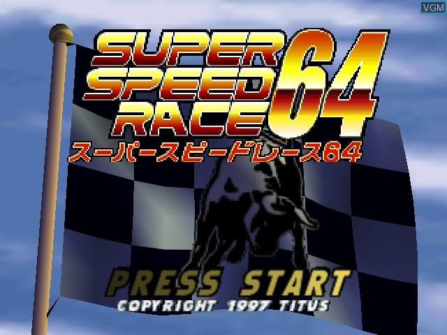Image de l'ecran titre du jeu Super Speed Race 64 sur Nintendo 64