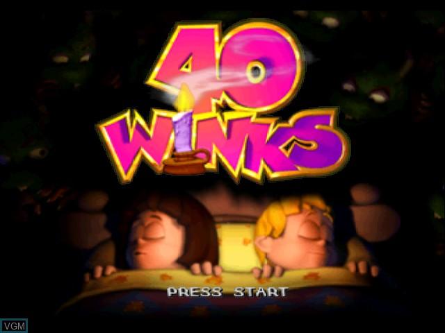 Image de l'ecran titre du jeu 40 Winks sur Nintendo 64