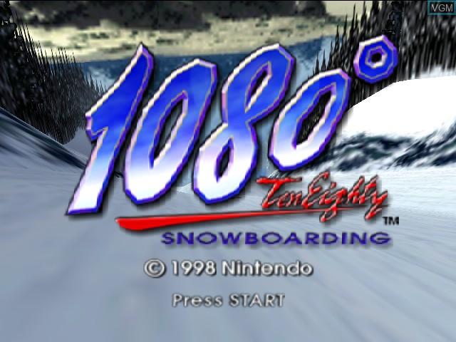 Image de l'ecran titre du jeu 1080 Snowboarding sur Nintendo 64