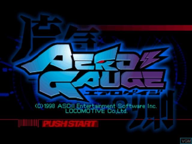 Image de l'ecran titre du jeu AeroGauge sur Nintendo 64