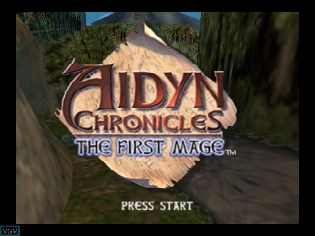 Image de l'ecran titre du jeu Aidyn Chronicles - The First Mage sur Nintendo 64