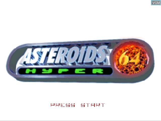 Image de l'ecran titre du jeu Asteroids Hyper 64 sur Nintendo 64