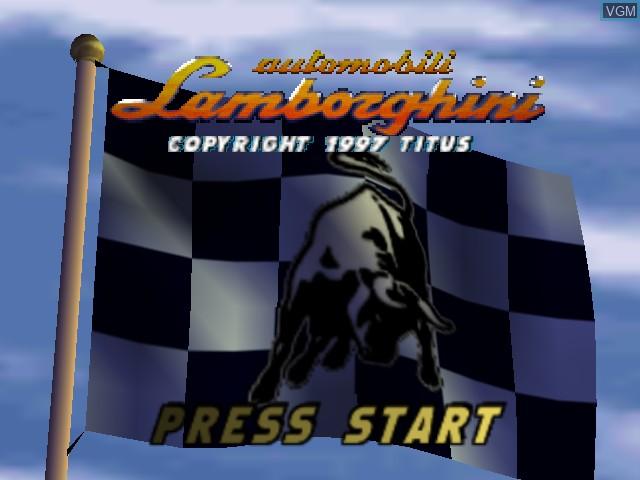 Image de l'ecran titre du jeu Automobili Lamborghini sur Nintendo 64