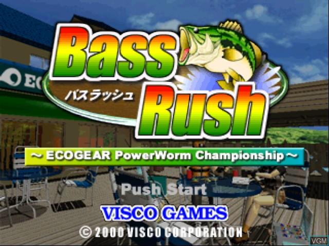 Image de l'ecran titre du jeu Bass Rush - ECOGEAR PowerWorm Championship sur Nintendo 64