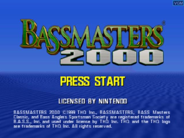 Image de l'ecran titre du jeu Bassmasters 2000 sur Nintendo 64