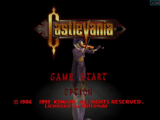Image de l'ecran titre du jeu Castlevania sur Nintendo 64