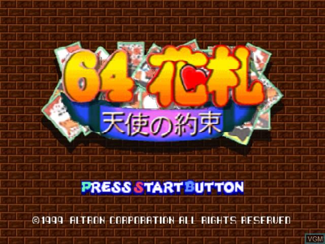 Image de l'ecran titre du jeu 64 Hanafuda - Tenshi no Yakusoku sur Nintendo 64