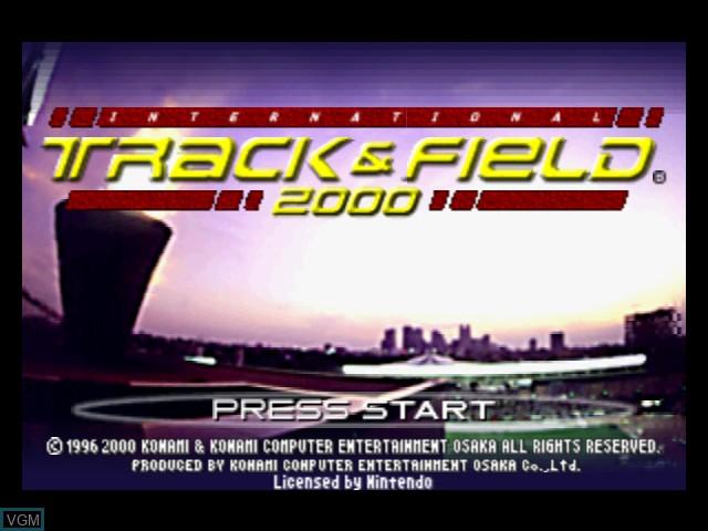 Image de l'ecran titre du jeu International Track & Field 2000 sur Nintendo 64