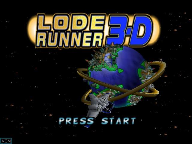 Image de l'ecran titre du jeu Lode Runner 3-D sur Nintendo 64