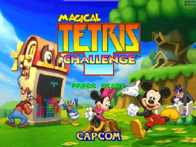 Image de l'ecran titre du jeu Magical Tetris Challenge sur Nintendo 64