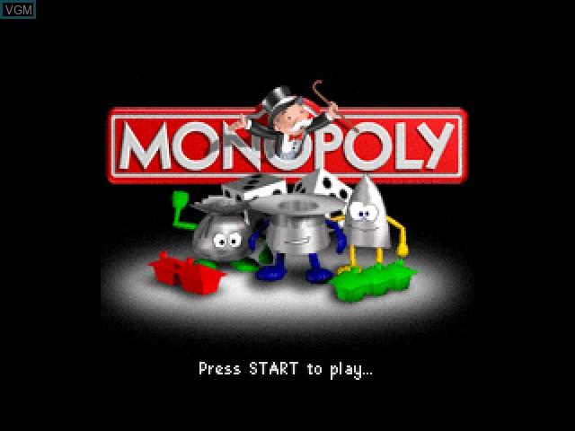 Image de l'ecran titre du jeu Monopoly sur Nintendo 64