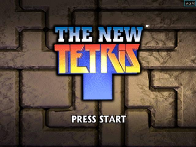Image de l'ecran titre du jeu New Tetris, The sur Nintendo 64