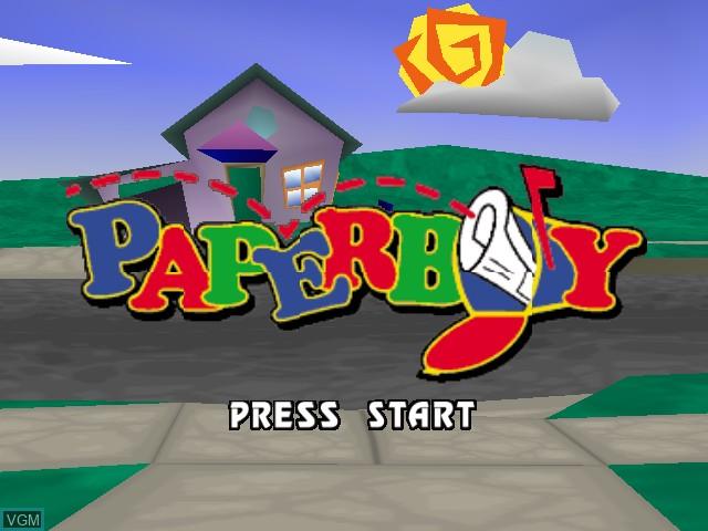 Image de l'ecran titre du jeu Paperboy sur Nintendo 64