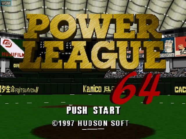 Image de l'ecran titre du jeu Power League 64 sur Nintendo 64