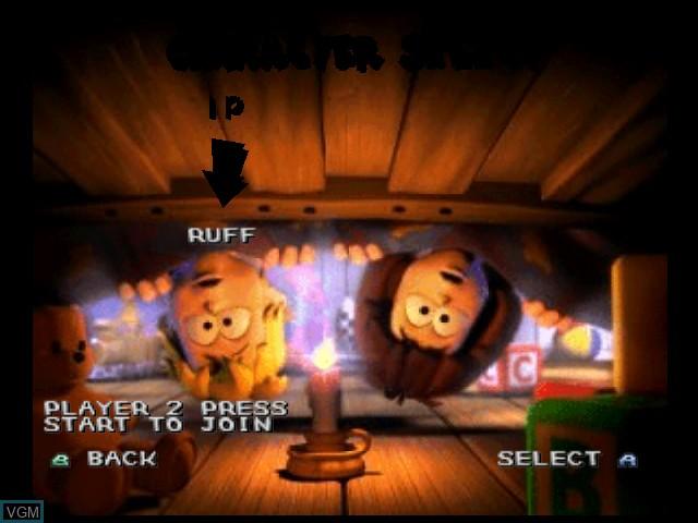 Image du menu du jeu 40 Winks sur Nintendo 64