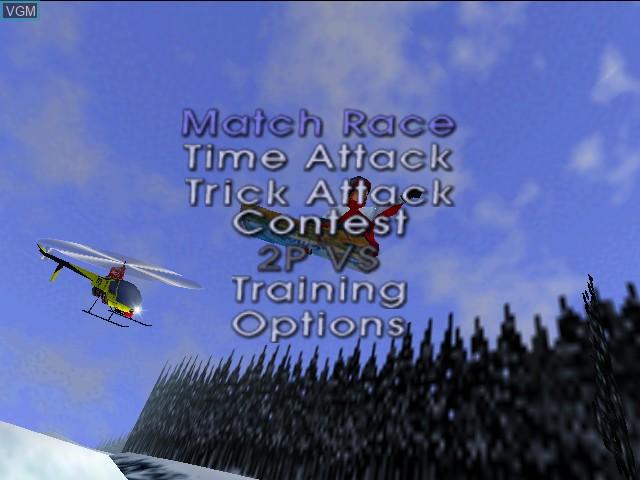 Image du menu du jeu 1080 Snowboarding sur Nintendo 64