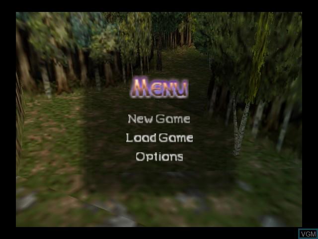 Image du menu du jeu Aidyn Chronicles - The First Mage sur Nintendo 64