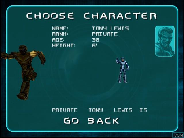 Image du menu du jeu Armorines - Project S.W.A.R.M. sur Nintendo 64
